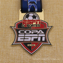 Bespoke Metal Antique Finish Soccer Football Medal