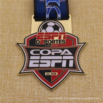 Bespoke Metal Antique Finish Soccer Football Medal
