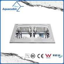 Above Counter Stainless Steel Moduled Kitchen Sink (ACS-8060D)