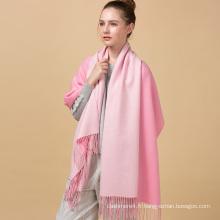 Haute qualité nouvelle conception mode personnalisé hiver vente chaude solide deux couleurs laine écharpe