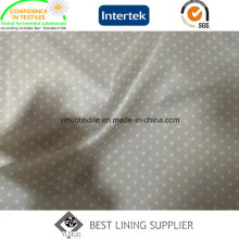 Tela estampada con forro de tela de coser estampado de tela cruzada de pequeños puntos