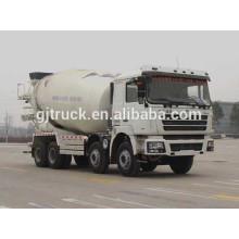Shacman 8 * 4 camion de mélangeur de ciment d'entraînement pour 10-14 mètres cubes