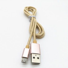 Cable trenzado de Nylon macho a micro USB Data Cable