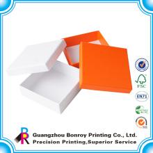 Top-Qualität benutzerdefinierte Deckel und Basispapier Mini Square Geschenkboxen drucken