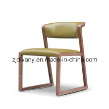 American Style Wooden Chair Dining Room Leather Chair (C-56)