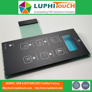 Düz Düğmeler Akrilik PMMA Backer Membrane Switch