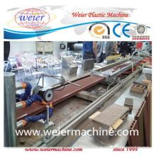 Línea de producción de madera plástica de la máquina del extrusor del tablero de la puerta del PVC WPC