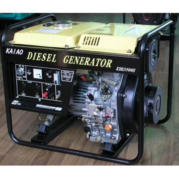 Gerador diesel do começo da chave da única fase 3kw da CA para o uso ao ar livre