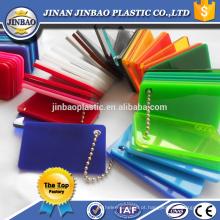 venda direta da fábrica de alto brilho claro e cor plexiglass reciclado