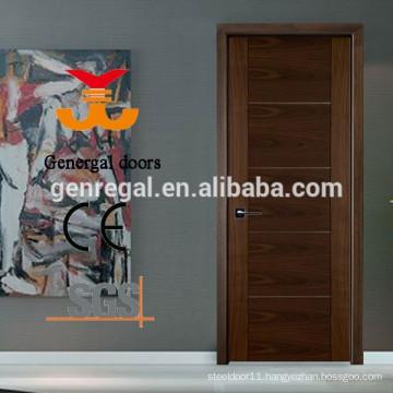CE bedroom flush walnut veneer wood doors interior