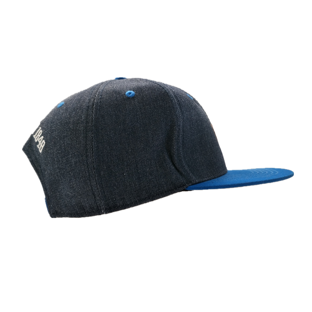 fashionable baseball cap with embroidered logo