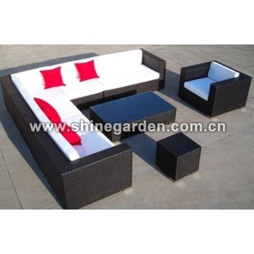 Bate-papo parte de 8 de mobília do pátio ao ar livre mobiliário Set-sofá