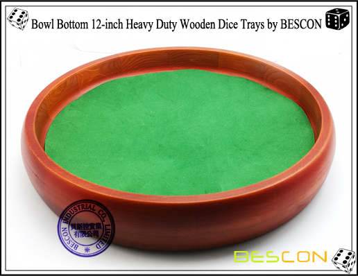 Bowl Bottom 12-inch Heavy Duty Wooden Dice Trays by BESCON-4