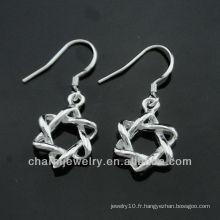 2013 boucles d'oreille en gros de la vente en gros de la Chine boucles d'oreilles en argent chaud vente ESA-002