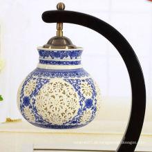 Heißer Verkauf keramischer blauer und weißer Lampenschirm