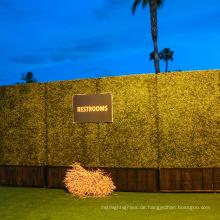 Meistverkaufte gelbe realistische künstliche Buchsbaumhecke im Pflanzer