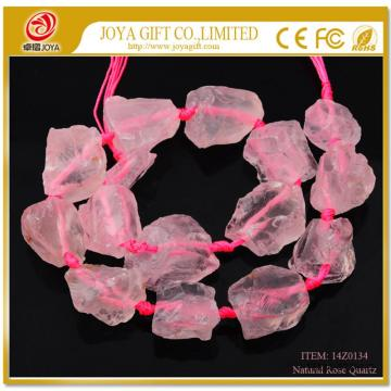 Natural Raw Rough Rose Quartz Jewelry Crystal Gemstone Beads