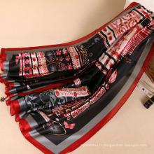 Chaude vendeur pour marché vague glands motif voile volé arabe foulard châle hijab en gros Chine
