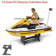 1/5 escala 55 cm de longitud RC modelo de velocidad de los barcos de motor