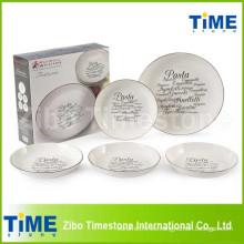 El regalo encajonó los tazones de fuente de la pasta de la porcelana 5PCS fijados