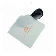 Pano de limpeza de microfibra impresso reutilizável para lentes de óculos