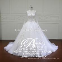 Китайский sheer вернуться платье вышивка новейшие и новейшие глюки с длинным рукавом свадебное платье