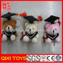High quality cute gift soft graduate bears keychain