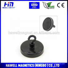 pot magnet, ferrite pot magnet, neodymium pot d40 with M4 hook