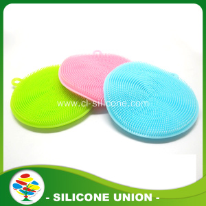 Popular private round silicone face washing brush