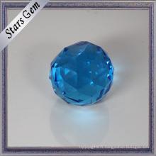 Diverses tailles et couleurs rondes perles en verre à facettes pour la décoration