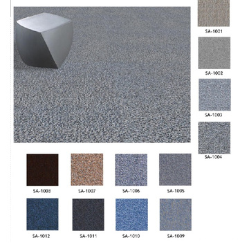 Nylon 66 Fire Proof Carpet Tiles with PVC Backing
