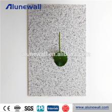 Painéis de parede plásticos de alumínio decorativos do olhar de pedra de 2-6mm para exterior