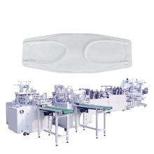 High Speed Auto Disposable Boat Style Mask Respirator Machine Making