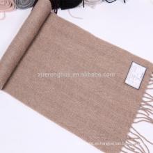 Bufanda 100% del patrón que hace punto de la bufanda de la cachemira
