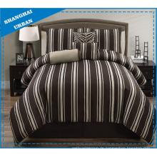 5 Stück breit braun Streifen Polyester Tröster Set
