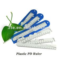 Regla óptica de PD de plástico para medir la distancia del alumno