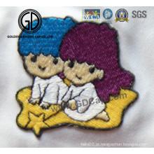 Bordado bordado bonita do teste padrão do logotipo dos desenhos animados para a roupa & os tampões