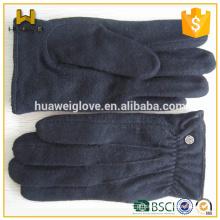 Clássico inverno lã alinhada 100% cashmere lã luvas para mulheres / homens