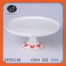 ceramic plate with stand,Fine decorative porcelain wholesale dinner plate,cake plate set