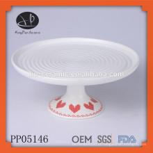 Placa de cerâmica com suporte, placa de jantar porcelana porcelana fino decorativas, placa de bolo conjunto