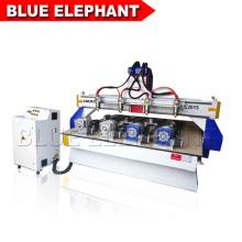 Machines de fraisage de bois de commande numérique par ordinateur 3d avec le dispositif rotatoire réglé par 4