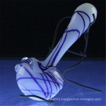 Glass Hand Pipe Peppermint Spoon Wholesale for Somker (ES-HP-007)