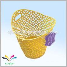 Новый стиль овальный желтый новинка металлической проволоки утюг корзина неныжной бумаги