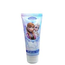 Tubo macio de plástico para gel de banho cosmético 25ml com tampa de rosca