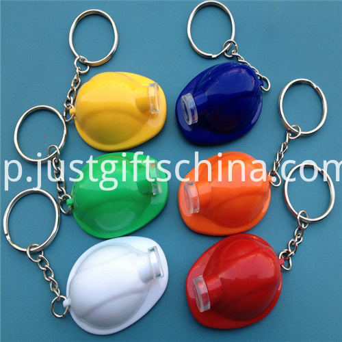 Promotional Led Plastic Key Chain Helmet3
