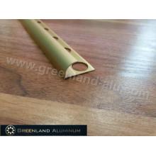 Perfil de alumínio Anodizado cor de ouro arredondar Borda Trim