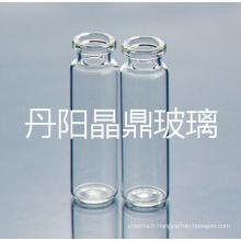 2ml flacon de verre clair Mini tubulaire pour l'emballage cosmétique