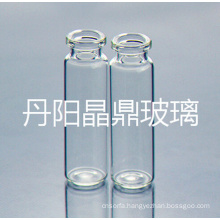Screwed Clear Tubular Bayonet Glass Bottle with High Neck