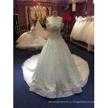 Принцесса с плеча комплекс ручной бисером свадебное платье