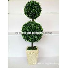Artificial decorativos falsos árboles topiary ball tree